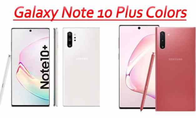 Samsung Galaxy Note 10 color options added with Red/pink color variant