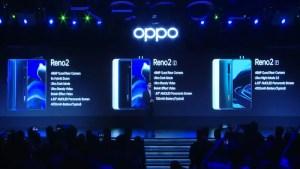 Oppo Reno 2 series specs