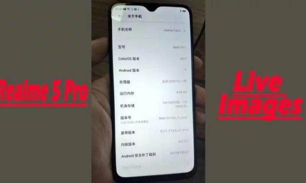 Realme 5 Pro mobile live images confirmed Snapdragon 712 Processor