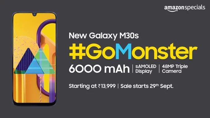 Samsung Galaxy M30s price starts at Rs. 13,999 in India