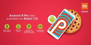Redmi Y2 Android Pie update