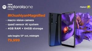 Motorola One Macro launch, specs
