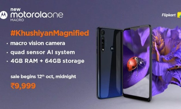 Motorola One Macro launched, price starts at Rs. 9,999: Full Specs