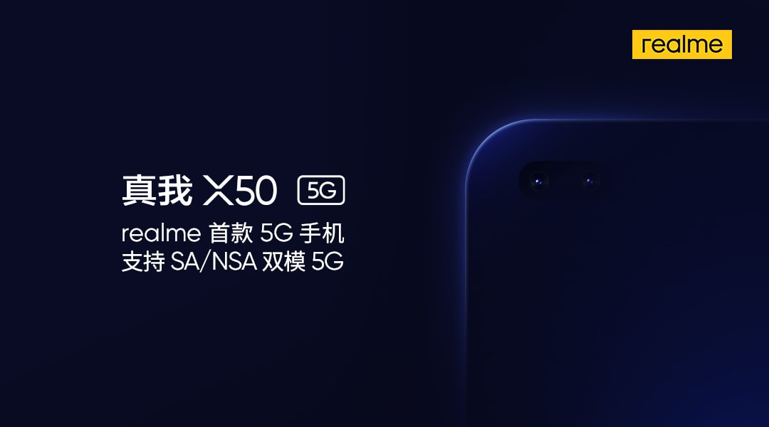 Realme first 5G mobile named as Realme X50 5G with dual punch-hole display