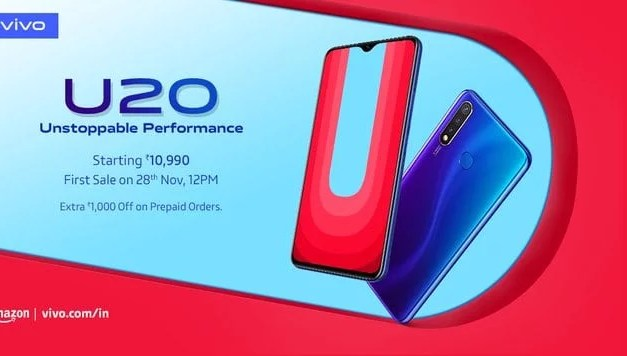 VIVO U20 launched, Price in India starts at Rs. 10,990: Full Specs