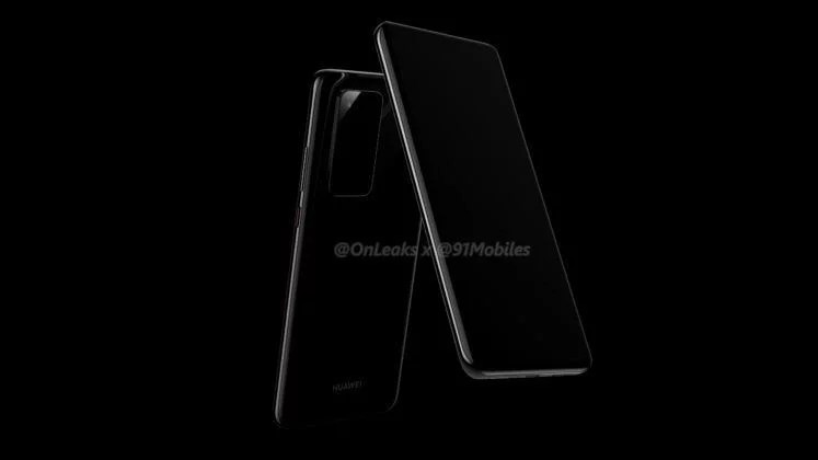 Huawei P40 & P40 Pro renders reveals – New Camera Module design, Curved display