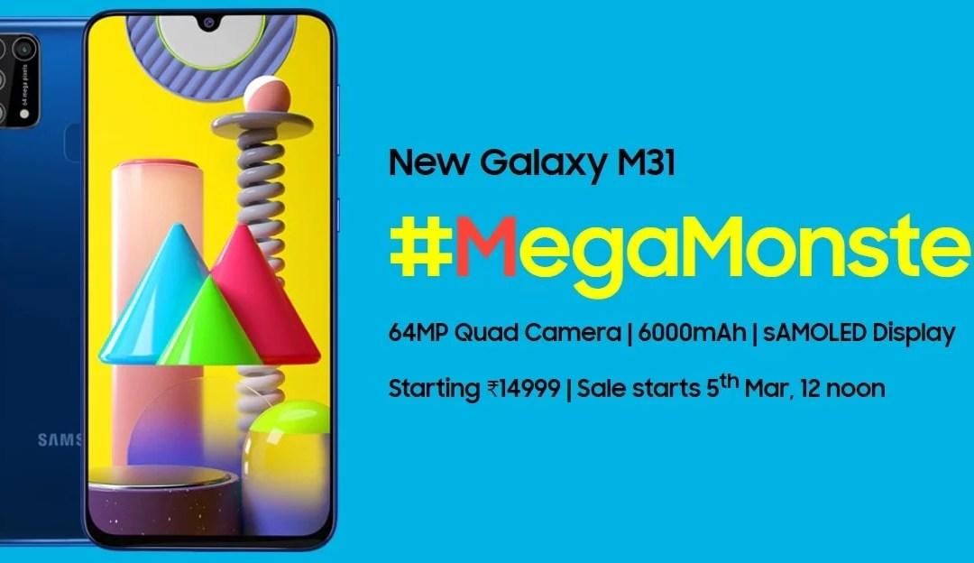 Samsung Galaxy M31 Price & Specs – 64MP Quad Cam & 32MP Selfie