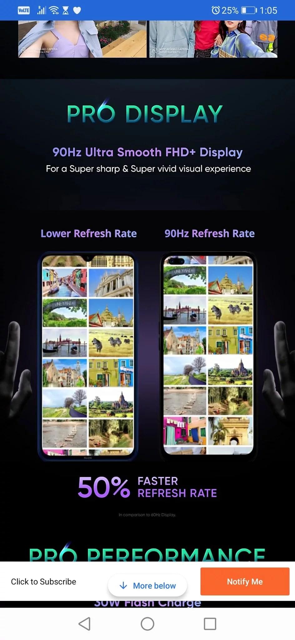 realme 6 pro 90hz display