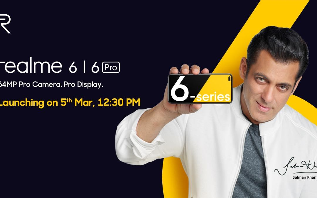 Realme 6, 6 Pro & Smart band launch date in India – Punch-hole display, 90Hz, 64MP, 30W Charging