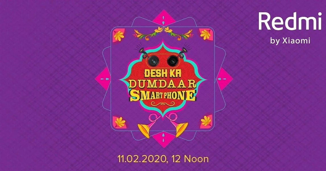 Redmi new mobile launch in 2020 on 11'Feb