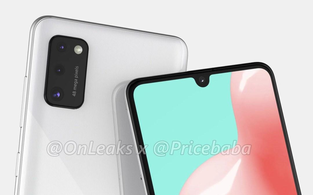 Samsung Galaxy A41 First Look renders – 48MP Triple Camera, U-Notch Display