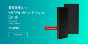 mi wireless power bank 10000mAH price, features