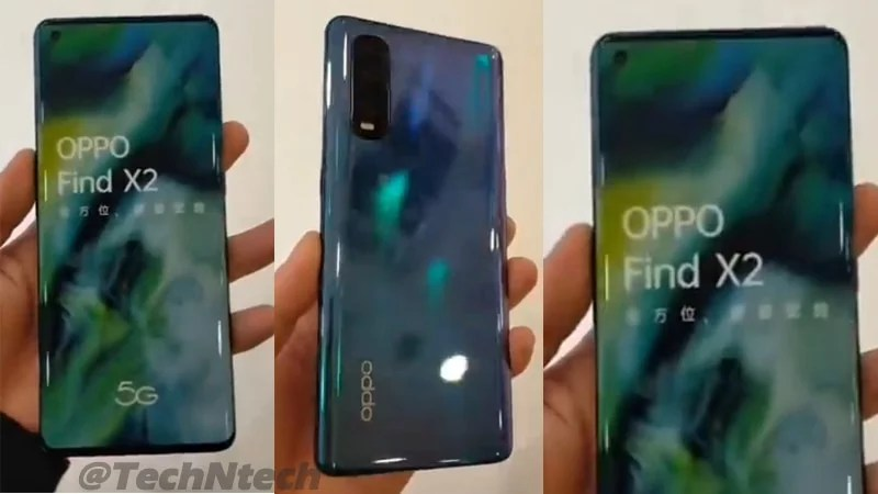 Oppo Find X2 & Find X2 Pro Hands-on Video leaked via Online