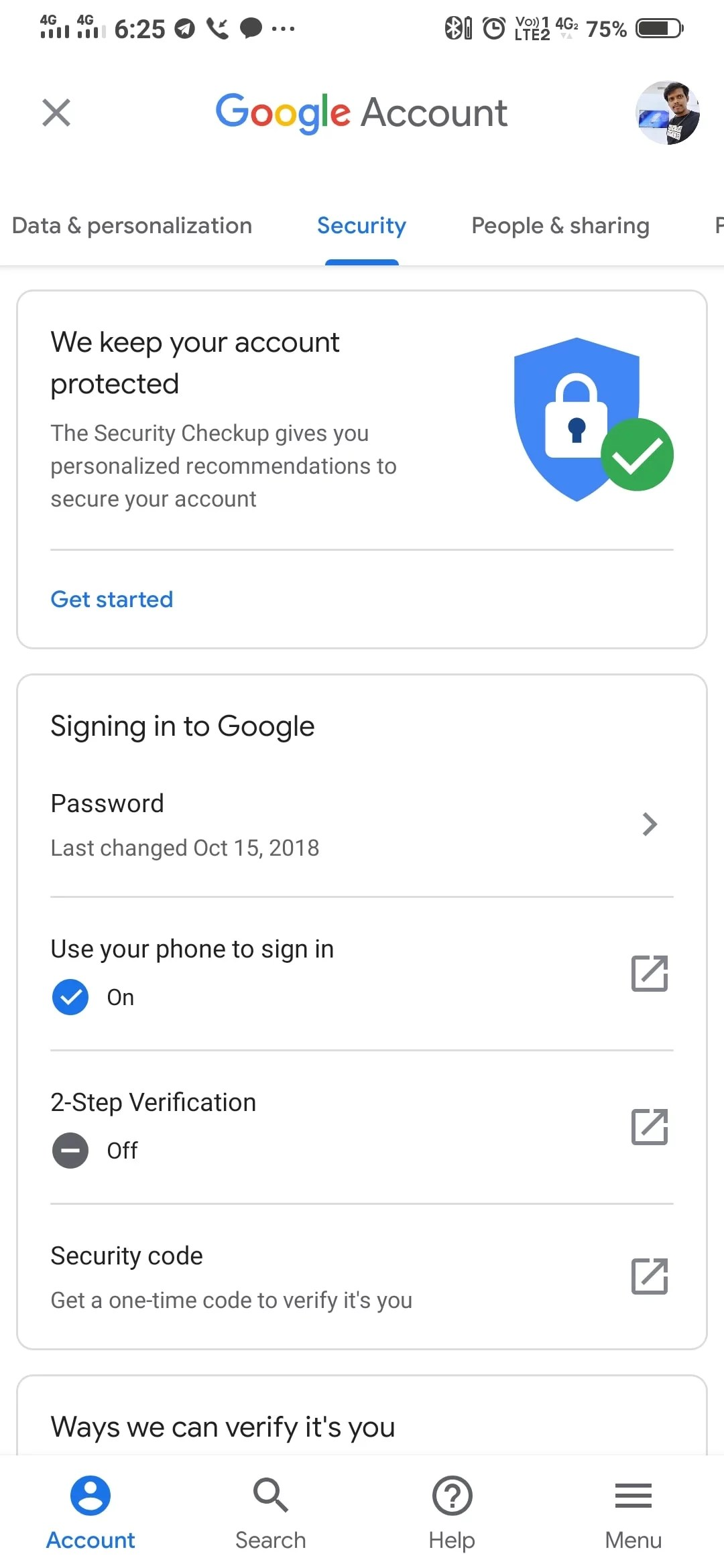 how to sign in google account without passwords