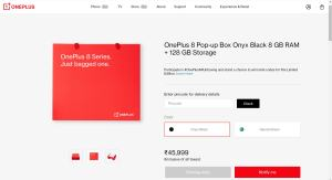 oneplus 8 pop up box price
