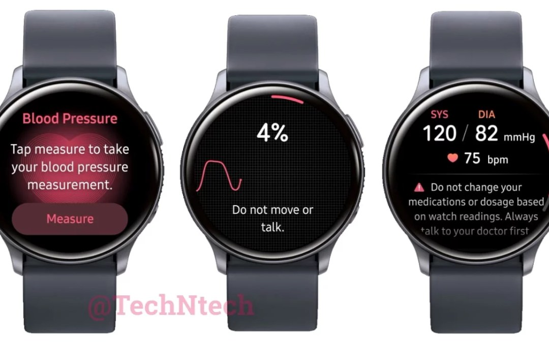 Samsung Galaxy Watch Active 2 gets Blood Pressure Measuring Feature