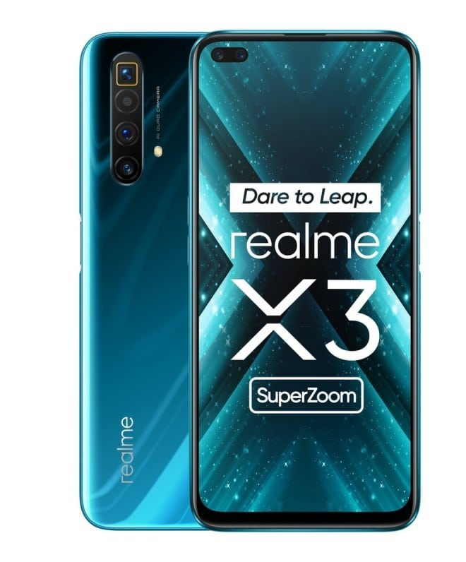 Realme X3 super zoom comes in green, black, white colors having 6.6-inch LCD display with 120hz refresh rate, Snapdragon 855+ processor, 60x digital zoom