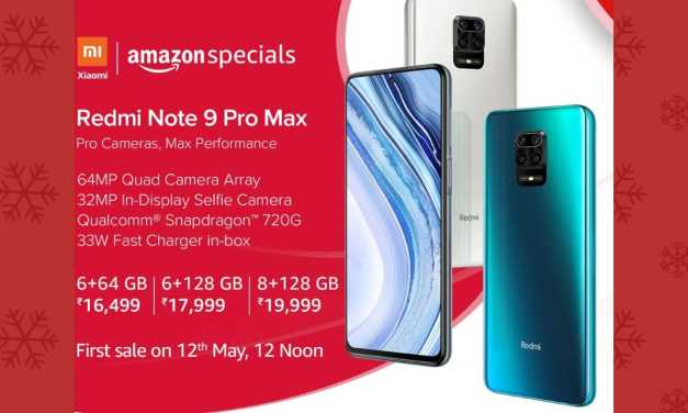 Redmi Note 9 Pro Max sale starts in India from 12th May