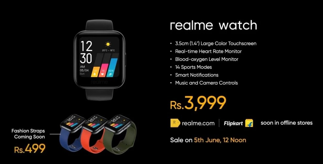 Realme SmartWatch Price
