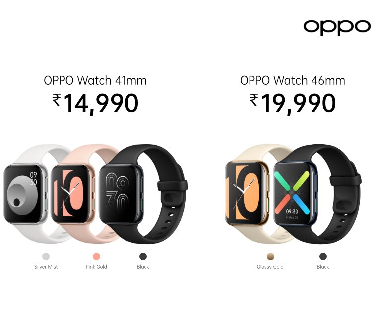 oppo watch color variants