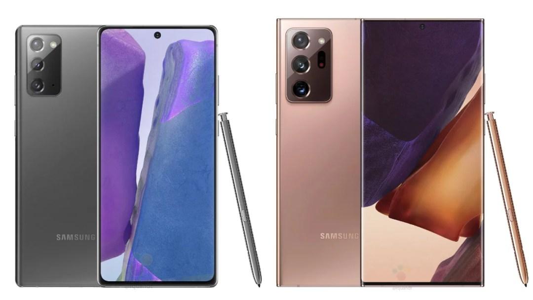 Galaxy Note 20 series colors, storage variants