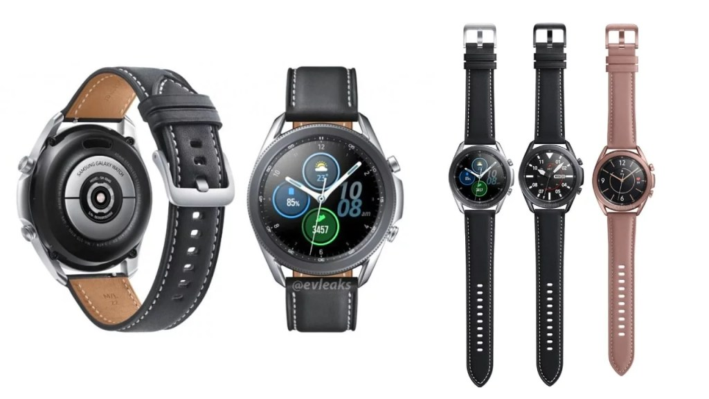 Samsung Galaxy Watch 3 first look revealed it comes in two models 1.5-inch & 1.4-inch round display, 247mAH & 340mAH battery, Bluetooth 5.0, wireless charging