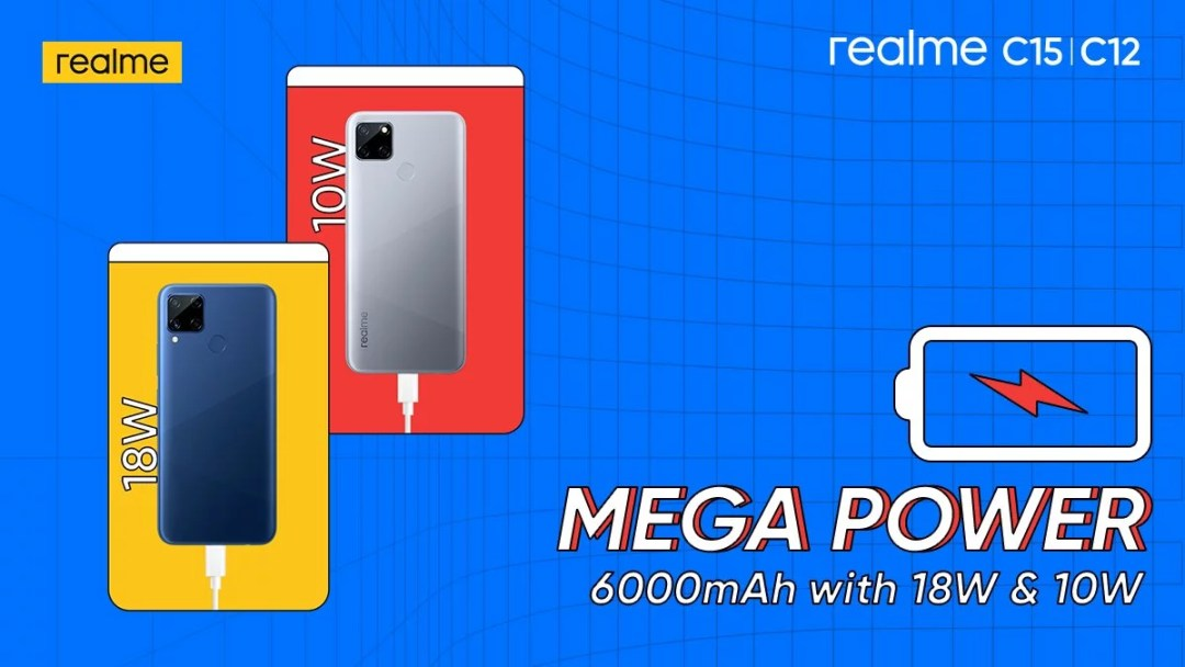 realme c12, c15 launch in India, 6000mAH battery