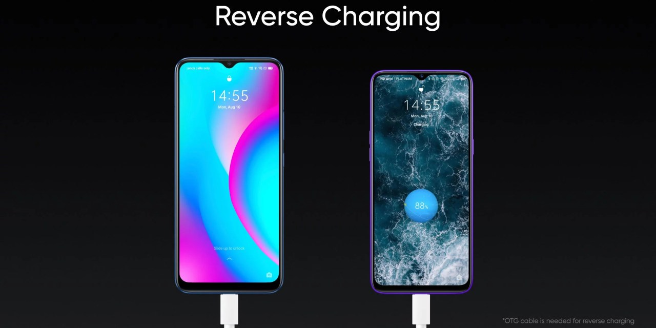 Realme C15 & C12 features Reverse Charging support