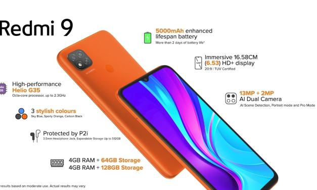 Redmi 9 launched in India – Here its Price & Specs details