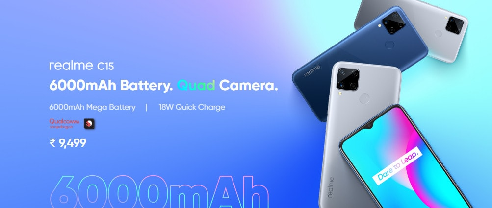 Realme C15 Qualcomm edition launched in India starting from Rs. 9999