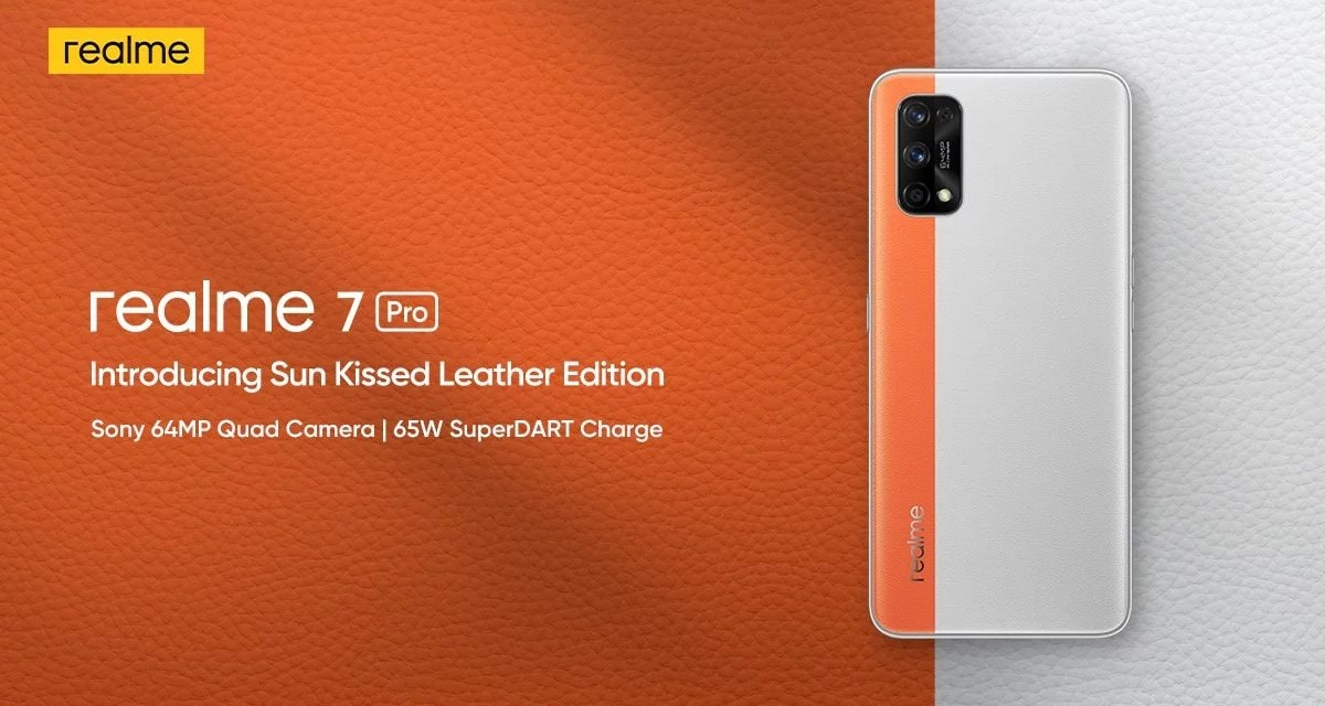 Realme 7 Pro Sun Kissed Leather Edition launched & Price details