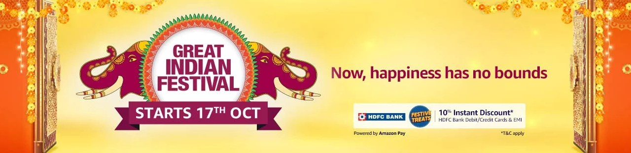 Amazon host Amazon Great Indian Festival Starting From October 17, Prime Members to Get Early Access