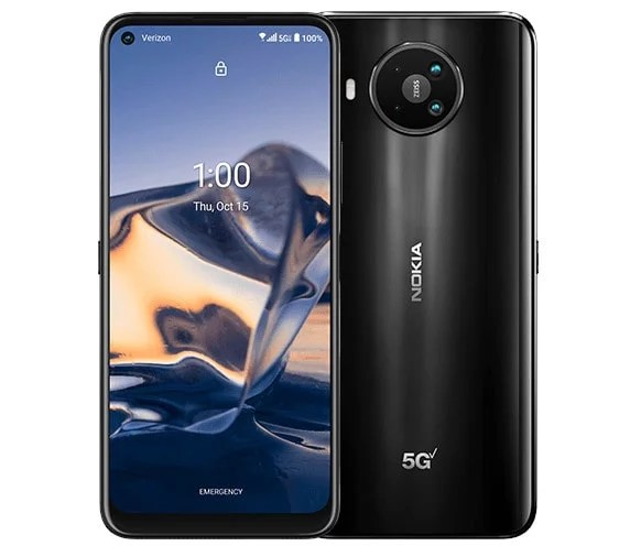 The Nokia 8 V 5G UW flaunts a 6.81-inch Full HD+ 20:9 LCD screen with resolution of 1080 × 2400 pixels. In terms of optics, the device features a Quad-camera...