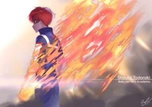 Fan art I did of Shouto Todoroki from My Hero Academia anime. Todoroki