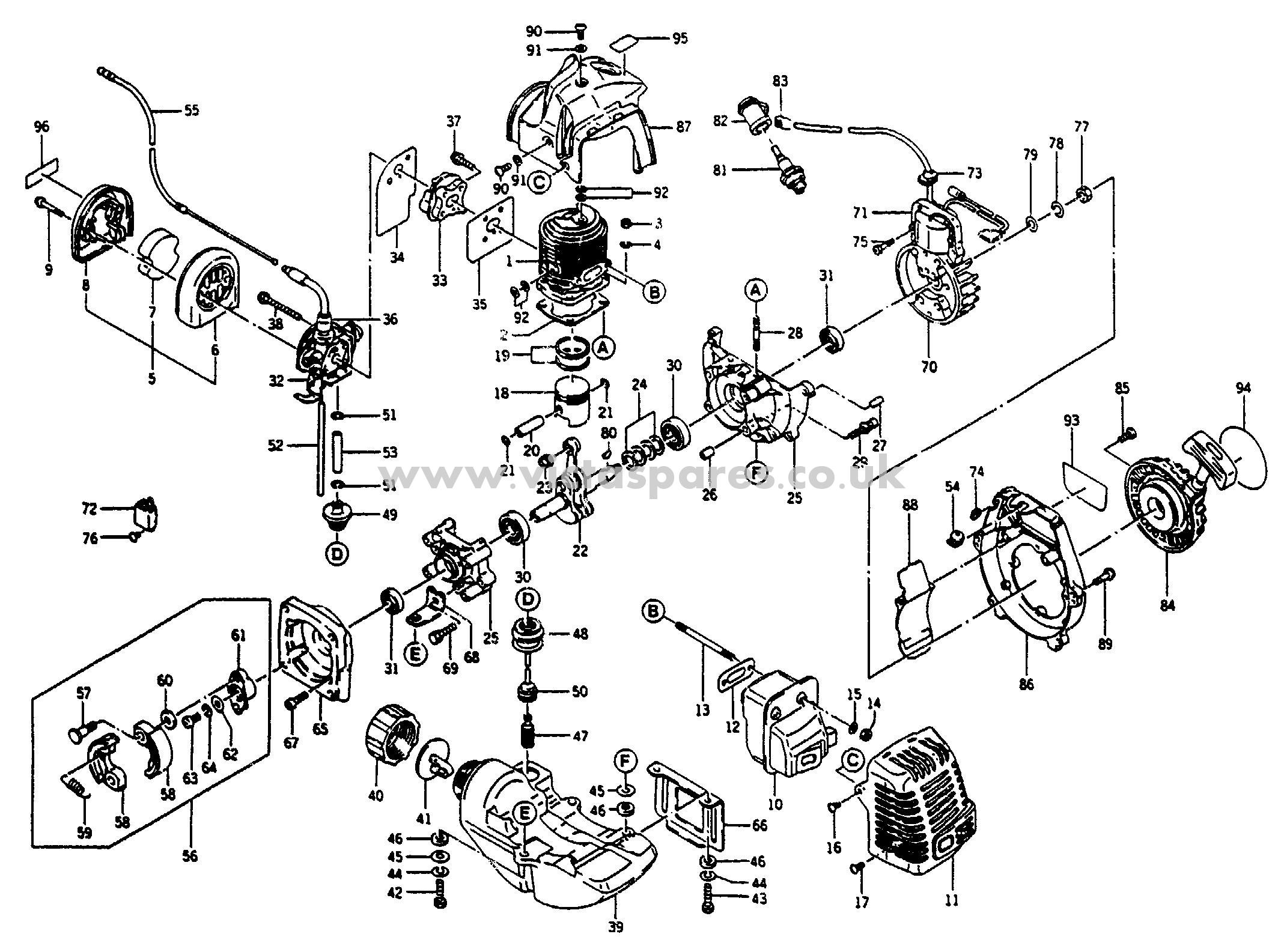 Starter Motor Parts List