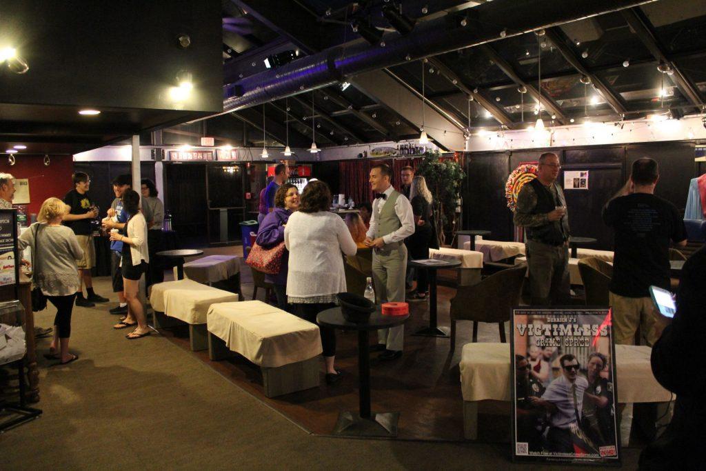 Pre-Screening Socializing in the Seacoast Rep's Lobby