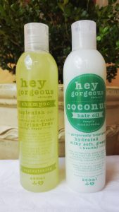 My favourite natural hair care products - Hey Gorgeous shampoo & conditioner