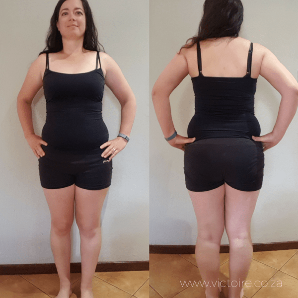 Belly fat challenge Victoire Week 2 - Front Back