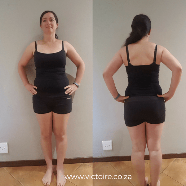 Belly fat challenge Victoire Week 3 Front Back