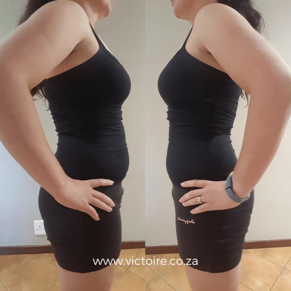 Belly fat challenge Victoire Week 3 side