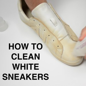 how to clean white sneakers w