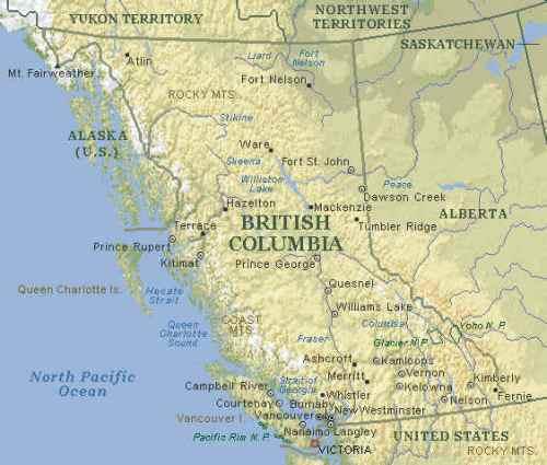 Map of Victoria BC Vancouver Island Map Victoria BC