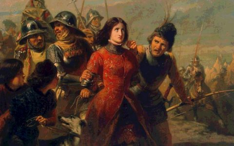 DILLENS, Adolphe-Alexandre (b. 1821, Gent, d. 1877, Bruxelles)  Capture of Joan of Arc 1847-52 Oil on panel, 53 x 72 cm The Hermitage, St. Petersburg       --- Keywords: --------------  Author: DILLENS, Adolphe-Alexandre Title: Capture of Joan of Arc Time-line: 1851-1900 School: Belgian Form: painting Type: historical