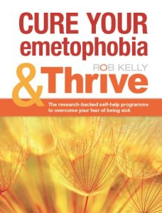 Cure your emetophobia & Thrive front cover showing image of close up plants and orange text