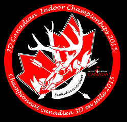 Logo for the 2015 3D Canadian Indoor Championships