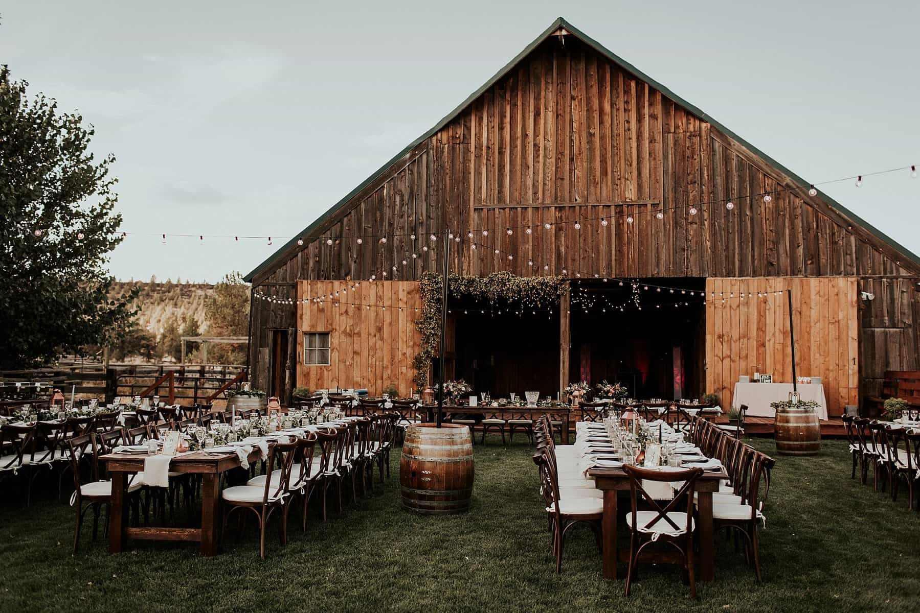 Heather  Aaron  Classy Rustic Bend Oregon Barn Wedding