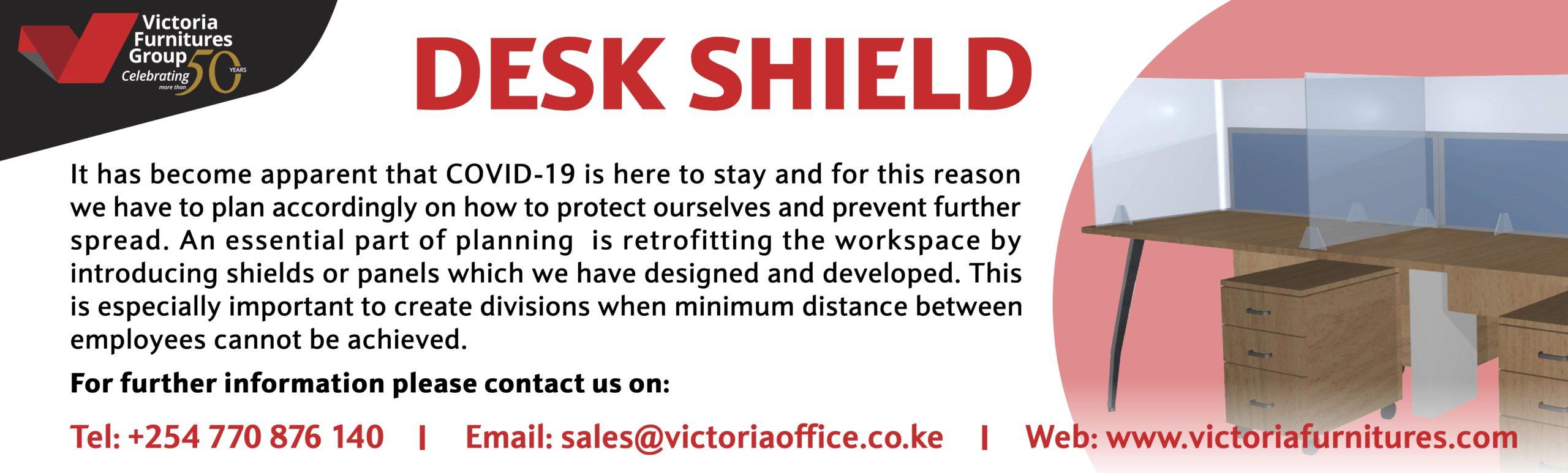 Desk Shield By Victoria Furnitures