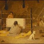 A Woman Weaving a Blanket by Paul Kane