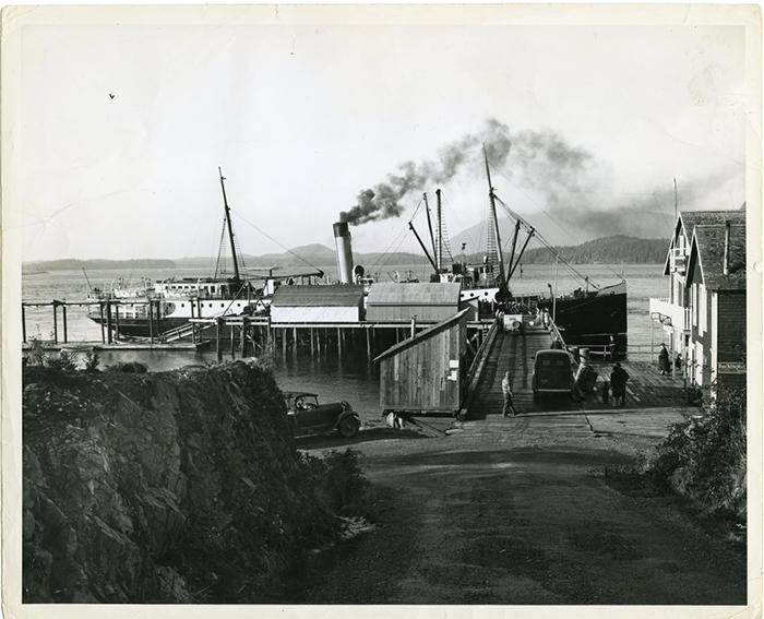 S.S. Macquinna at Tofino, Vancouver Island.