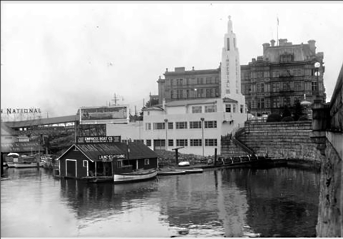 Imperial Oil building with Causeway tower and beacon courtesy of British Columbia Archives F-06337